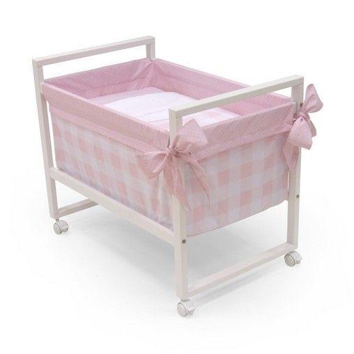 Minicuna cuadrada next bebe rosa