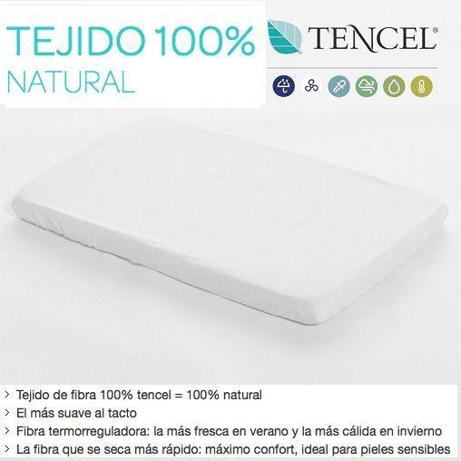 Sábana Bajera y Protector Impermeable Tencel de MiniCuna