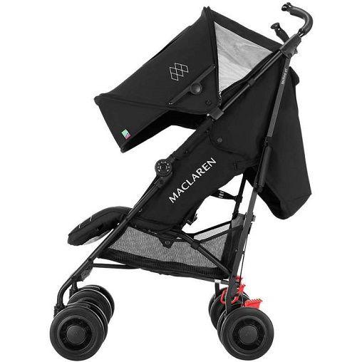 silla de paseo maclaren techno xt black black aikobeb