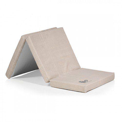 Innovaciones Ms colchón para cuna de viaje bicolor Beige/Gris