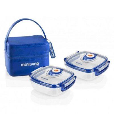 Contenedores alimentos MINILAND Pack-2-Go Hermifresh Blue