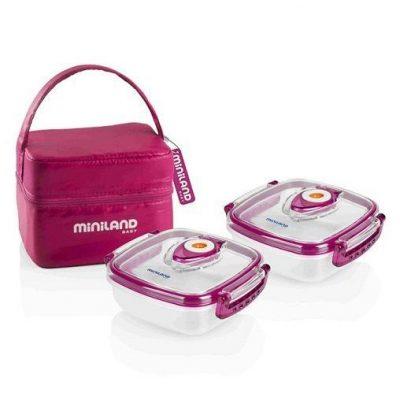 Contenedores alimentos MINILAND Pack-2-Go Hermifresh Rosa