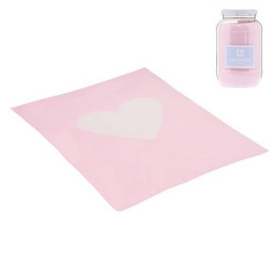 Manta Algodon Bebe Cuore 80-100 cm Cambrass Rosa