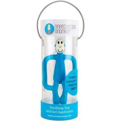 Mordedor Matchstick Monkey azul para bebés