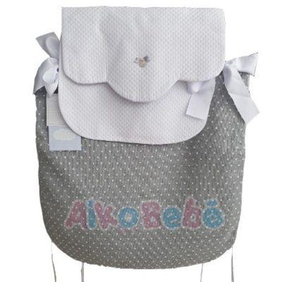Colcha para capazo Bebé de Uzturre Gris