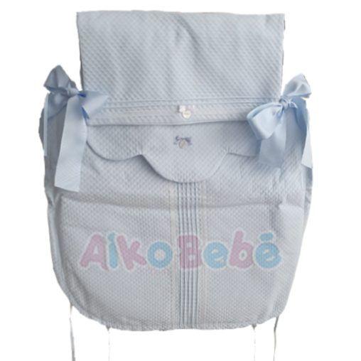 Colcha para capazo Bebe de Uzturre Lacito Azul