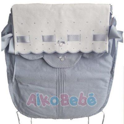Colcha para capazo Bebe de Uzturre Lacito Azul v2