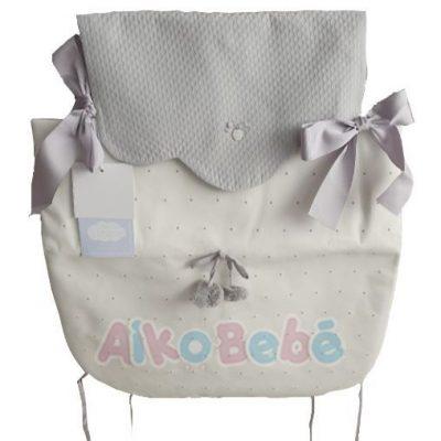 Colcha para capazo Bebe de Uzturre Lacito Gris