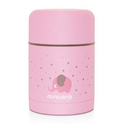 Termo para Sólidos Miniland Rosa Baby Silky Food 600 ml