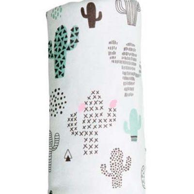 Muselina Bambu Collection Cactus Blanco y Verde