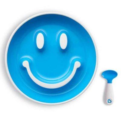 Vajilla Munchkin Ventosa Azul Smile 'n Scoop