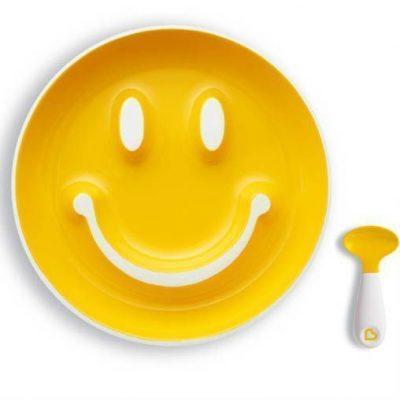Vajilla Munchkin Ventosa Amarillo Smile 'n Scoop