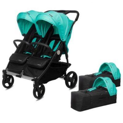 Carrito Gemelar + 2 Capazos Baby Twin
